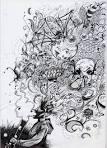 smoking weed drawings