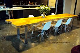 Custom Made Dining Room Furniture Live Edge Dining Table This Table Is Made From A Single Ash Slat