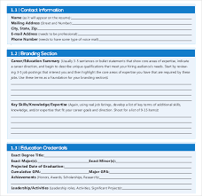 Professional Resume Writing Template in PDF Template net