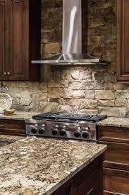 granite countertop glazed white kitchen cabinets five burner
