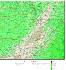 Virginia Tech Map Elevation Map Of West Virginia Virginia Map