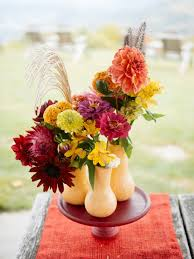 Silk Peacock Home Decor by Fall Silk Flower Centerpieces At Petals Bountiful Autumn