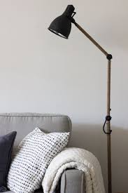 west elm inspired industrial floor lamp an ikea hack u2014refreshed