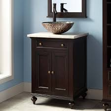 Keller Mahogany Vessel Sink Vanity Dark Espresso Bathroom - Black bathroom vanity with vessel sink