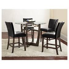Steve Silver Dining Room Furniture 5 Piece Counter Height Dining Table Set Wood Black Steve Silver