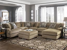 modular sofa sectional brown tone over sized love seat and rectangle upholstered ottoman