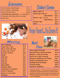 nail salon near me hours 12 hair salon price menu