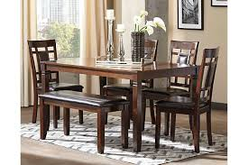Bennox Dining Room Table And Chairs With Bench Set Of  Ashley - Ashley furniture dining table with bench
