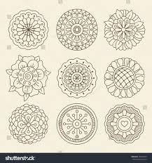 vector floral set moroccan design graphic stock vector 432254584