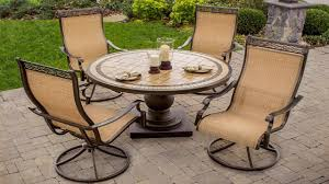 5 Pc Patio Dining Set - outdoor swivel rockers patio furniture 5 piece high back sling