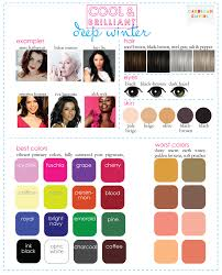 Best Hair Colors For Cool Skin Tones Color Analysis 3 Degrees Of Cool U0026 Brilliant
