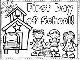 printable first day of coloring page coloringpagebook com