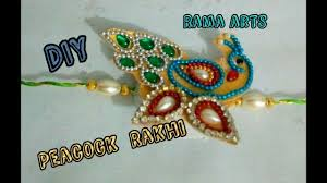 Silk Peacock Home Decor by Peacock Rakhi How To Make This Rakhi Rakhi Tutorials Youtube