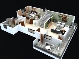 3d Floor Plans by Modern House 3d Floor Plans Floor Plan For Modern Triplex 3 Floor