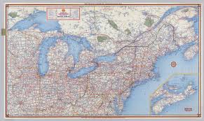 Untied States Map Shell Highway Map Northeastern Section Of The United States