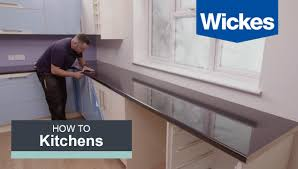 Kitchen Cabinet Cornice by How To Fit A Kitchen Worktop With Wickes Youtube