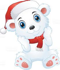 cute christmas polar bear cartoon stock vector art 623182008 istock