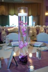 Purple Floating Candles For Centerpieces by Different Candle Centerpiece Submerged Flowers Purple Majesty