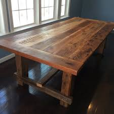 Farmstyle Dining Table Handmade From Reclaimed Barn Wood On - Barnwood kitchen table