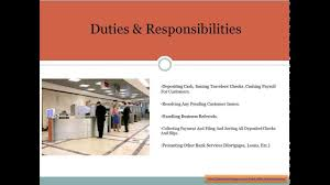 Career Objective For Bank Bank Teller Job Description Youtube