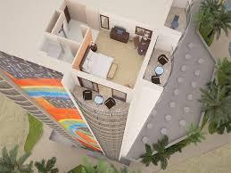hilton hawaiian village 3d floor plans