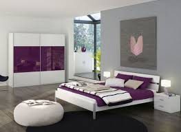 modern purple bedroom ideas with low profile bed
