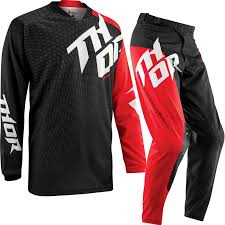 black motocross jersey thor prime 2015 slash black red enduro mx quad jersey and pants
