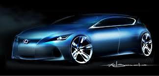 lexus ct hybrid performance lexus ct concept teaser sketch photo gallery autoblog