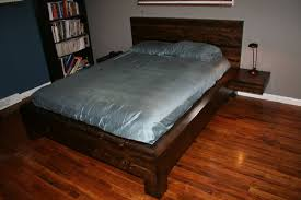 Make A Platform Bed With Storage by Diy Platform Bed With Floating Nightstands 9 Steps With Pictures
