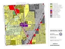 Detroit Michigan Map by Fraser Mi Official Website Zoning Map U0026 District Descriptions
