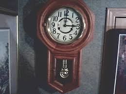 Jcpenney Clocks D U0026 E 31 Day Regulator Wall Clock Hour Chime With Half Hour