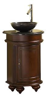 Arlington  Inch Antique Bathroom Vanity Gold Hill Black Granite - Black bathroom vanity with vessel sink