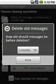 Delete old messages  screenshot