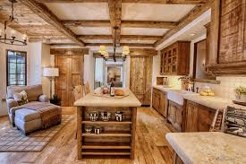 kitchen appealing cabin kitchen with wood elements and