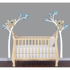 Tree Decal For Nursery Wall by Koala Or Panda Bear Wall Decals With Bamboo Wall Decorations Etc