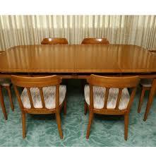 Mid Century Modern Dining Room Tables Sophisticate By Tomlinson Mid Century Modern Dining Set Ebth