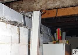 repairing u0026 straightening tilting foundation walls by authorized