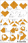 Origami Gorilla en.origami-club.com