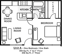 Two Bedroom Apartment Floor Plans Small One Bedroom Apartment Floor Plans Google Search Gardens