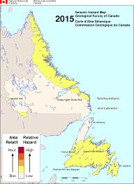 Hamilton Canada Map Simplified Seismic Hazard Map For Canada The Provinces And