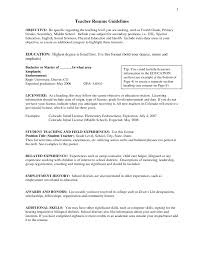 Example Of An Objective For A Teaching Resume   Resume   example of resume objective statement happytom co