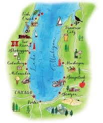 North Shore Chicago Map by Big Blue Easy Chicago Magazine