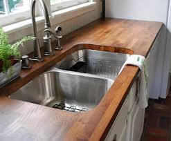 decor natural walnut butcher block for kitchen furniture ideas