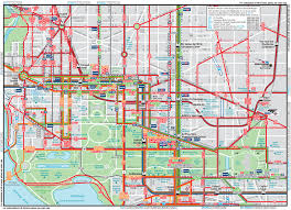 Map Of Washington Cities by Washington Dc Downtown Metrobus Map City Center U2022 Mapsof Net