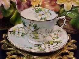 vintage royal albert white dogwood bone china tea cup saucer made