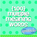 100 Multiple Meaning Words, By Grade for Home Use