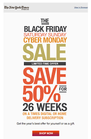 black friday christmas tree deals new york times black friday sale simple clean email design