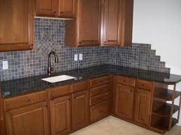 Mosaic Tiles For Kitchen Backsplash Kitchen Fancy L Shape Kitchen Decoration Ideas Using Light Brown