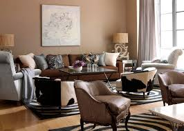 Living Room Curtain Looks Living Room Stylish Brown Living Room Of Modern Interior With