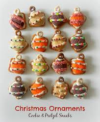 sugar swings serve some christmas ornament cookie and pretzel snacks